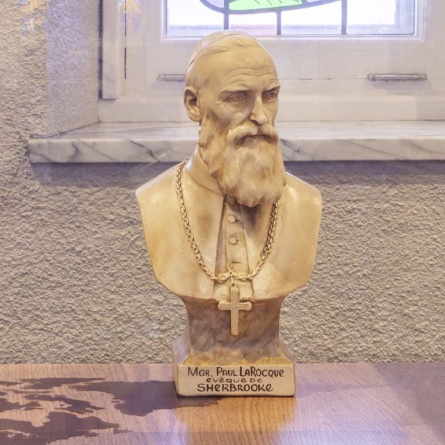 Bust of Bishop Larocque second Bishop of Sherbrooke from 1893 to 1926