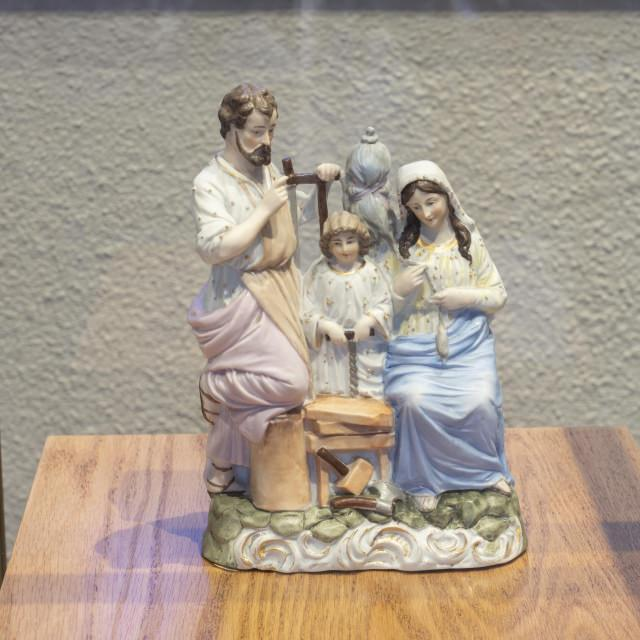 Statue of the Holy Family belonging to Mother Marie-Léonie.  Patrons and models of the Institute