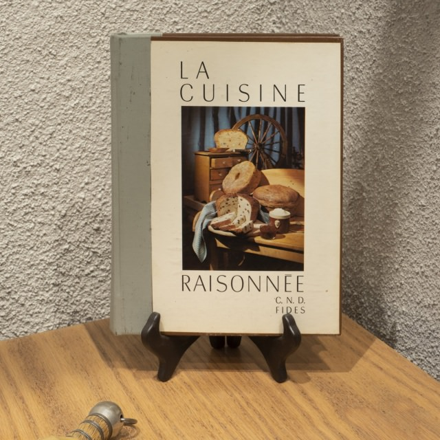 La cuisine raisonnée Edition Fides, recipe book of the Congregation of Notre Dame used in the Institute, with a notebook of tested and approved recipies